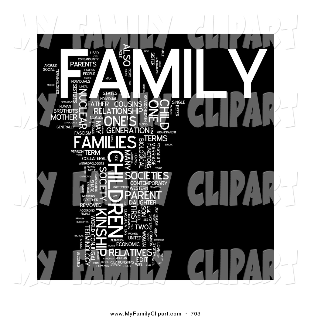 Clip Art of a Family Word Collage by MacX.