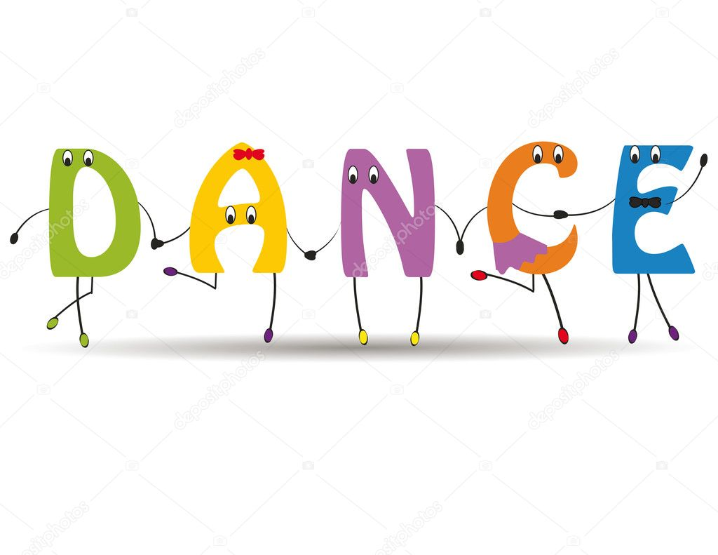 Dance word clip art.