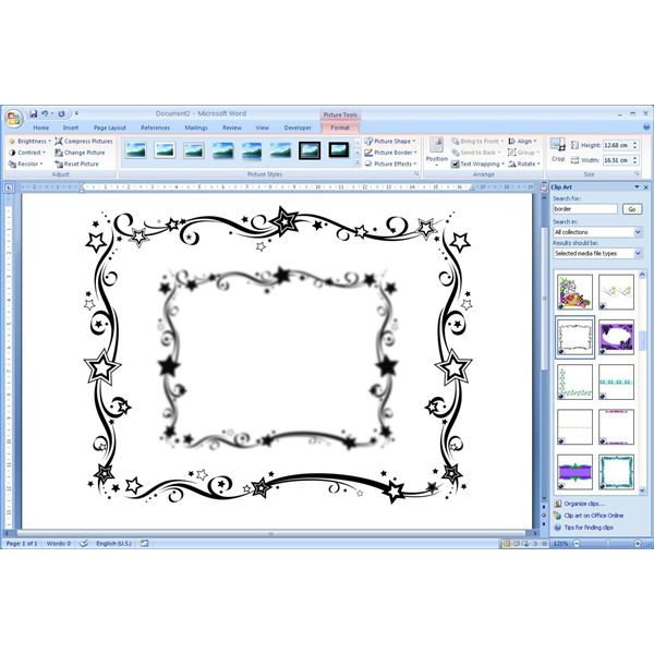 How To Add Free Borders Clip Art Microsoft Word Documents for.
