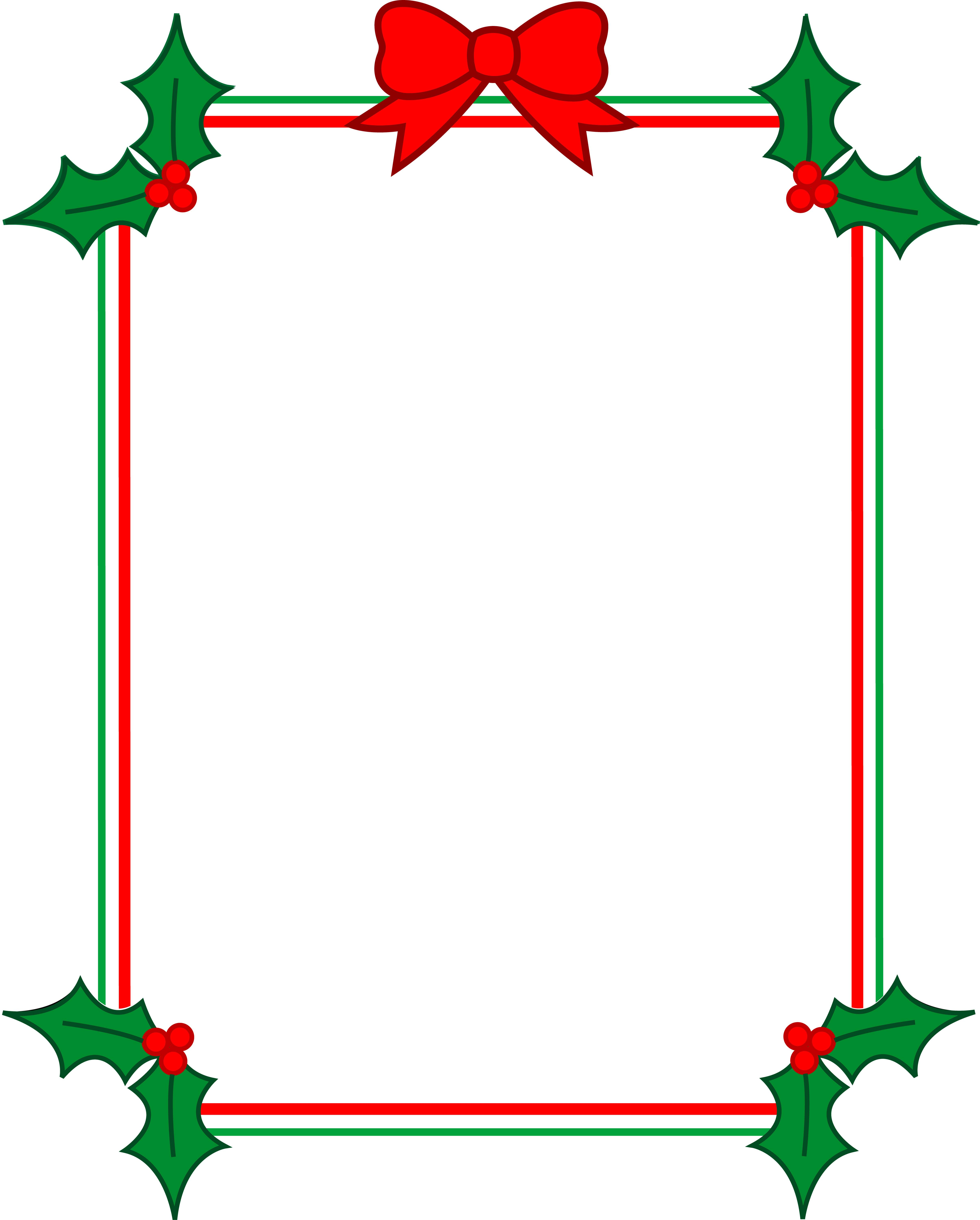 Christmas Clip Art Borders For Word Documents.