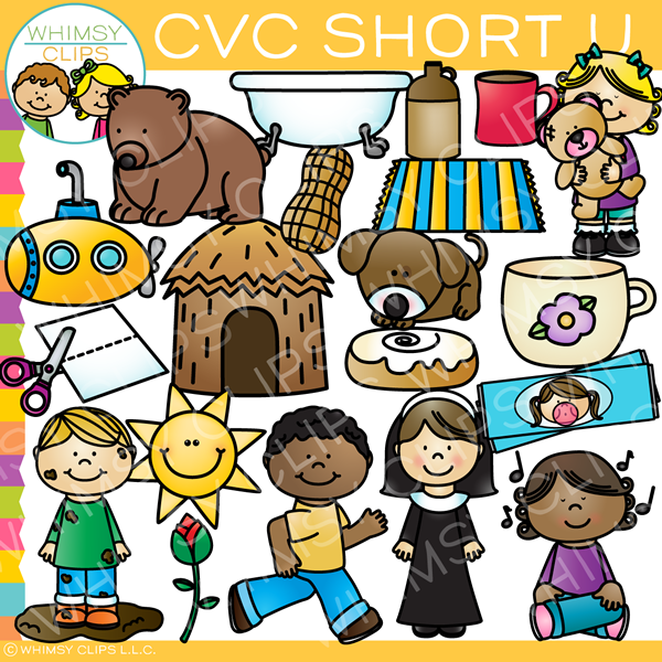 CVC Short U Word Family Clip Art {Volume One}.