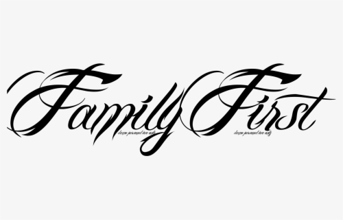 Free Family Word Clip Art with No Background.