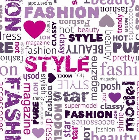 Fashion Word Collage Clipart Picture Free Download.