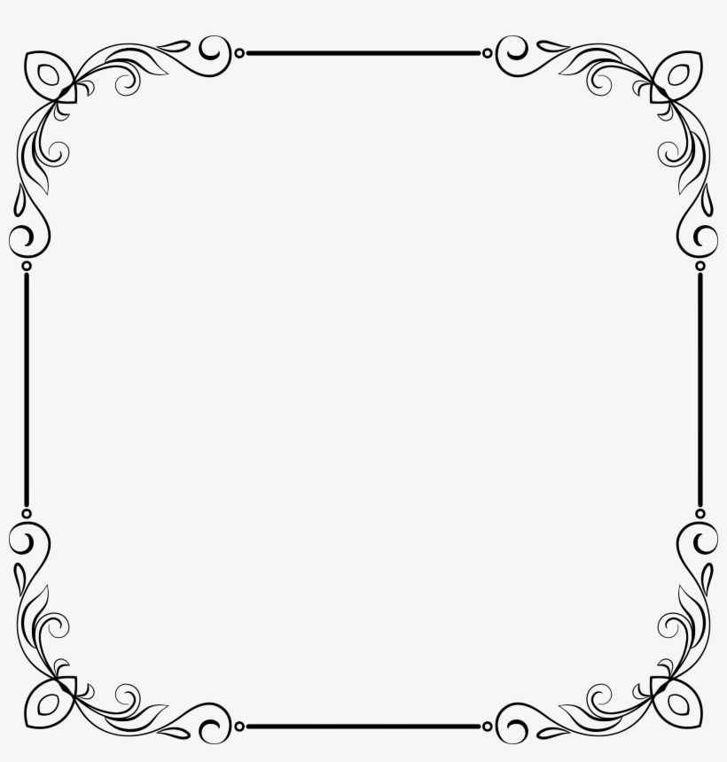 Clipart Elegant Flourish Frame Extrapolated 11 Rh.