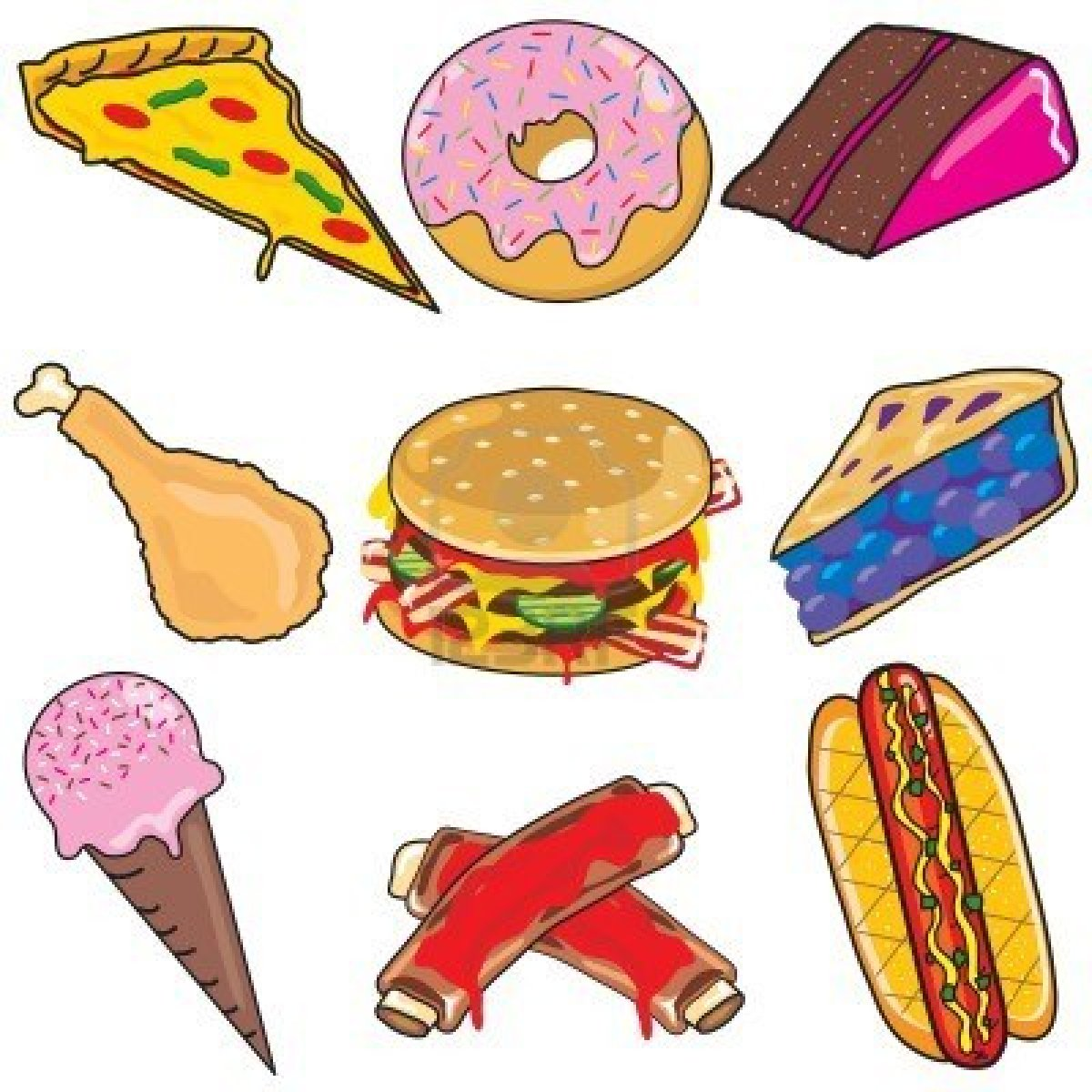 The Word Food Clipart.