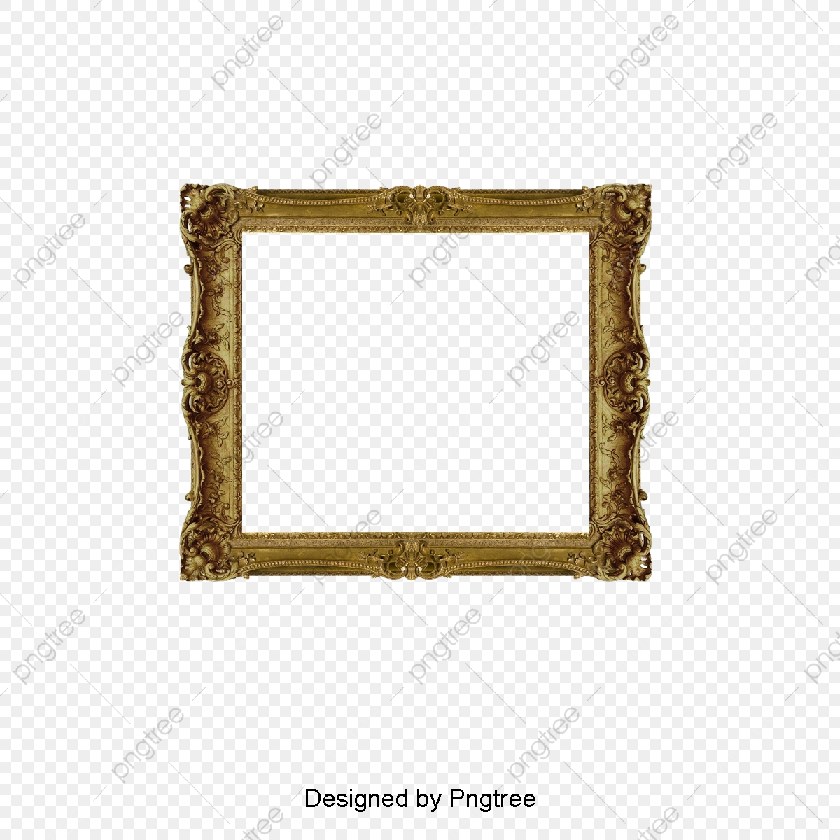 Gold Photo Frame, Frame Clipart, French Photo Frame, Frame Word PNG.