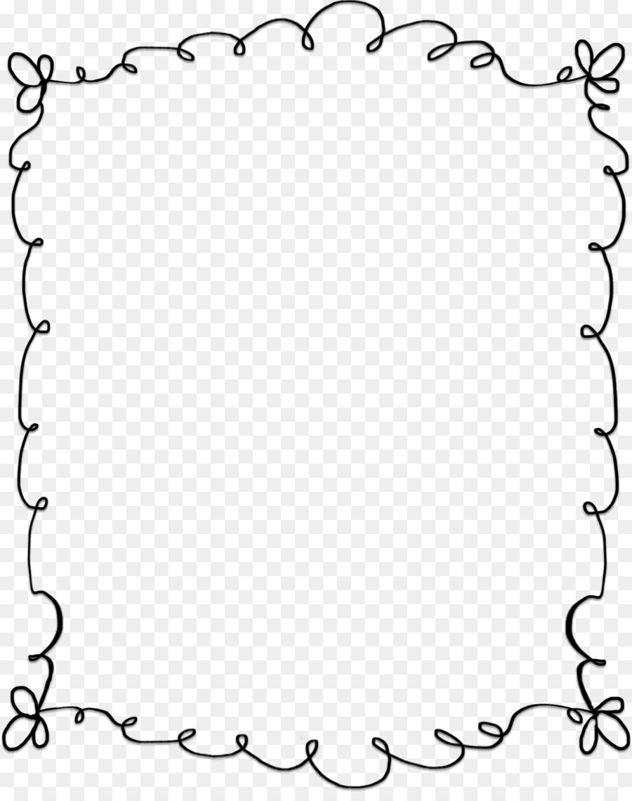 Black And White Frame png download.