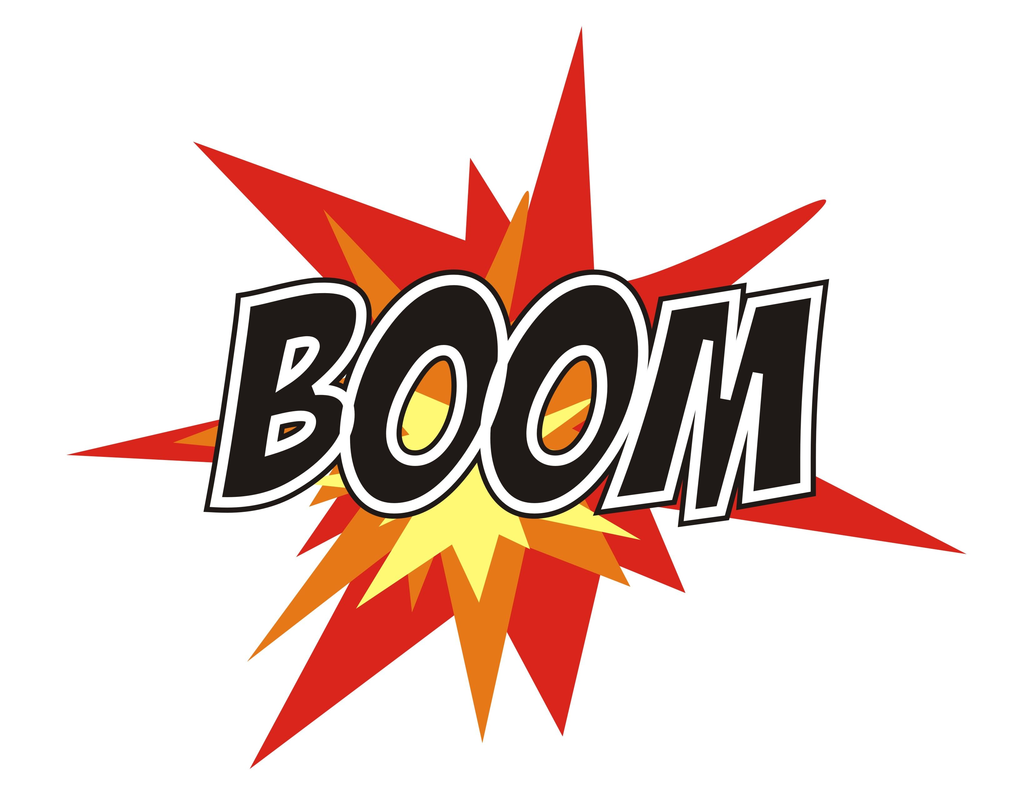 Boom Sign Clipart.