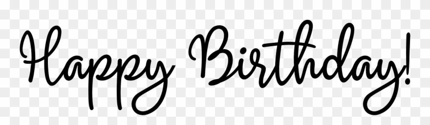 Happy Birthday Word Art Magenta.