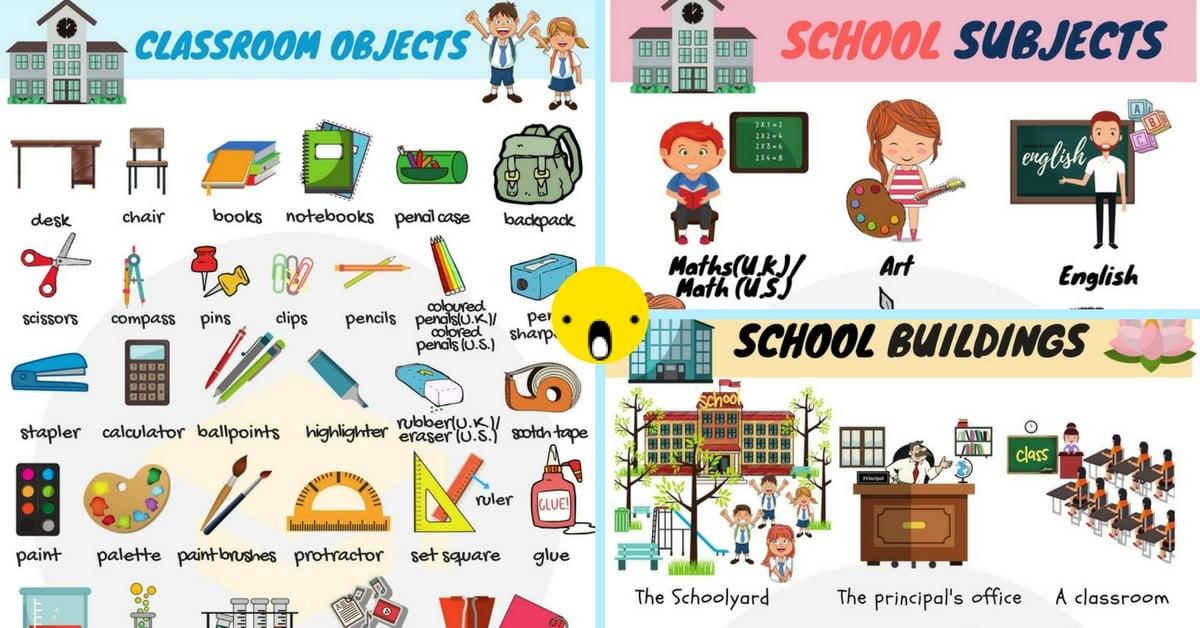 School Vocabulary Words.
