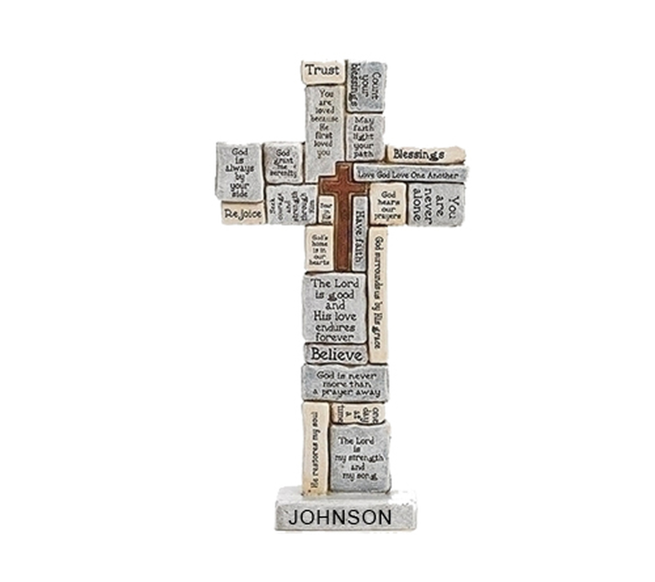 Personalized Words and Sayings Comfort Desk Cross.