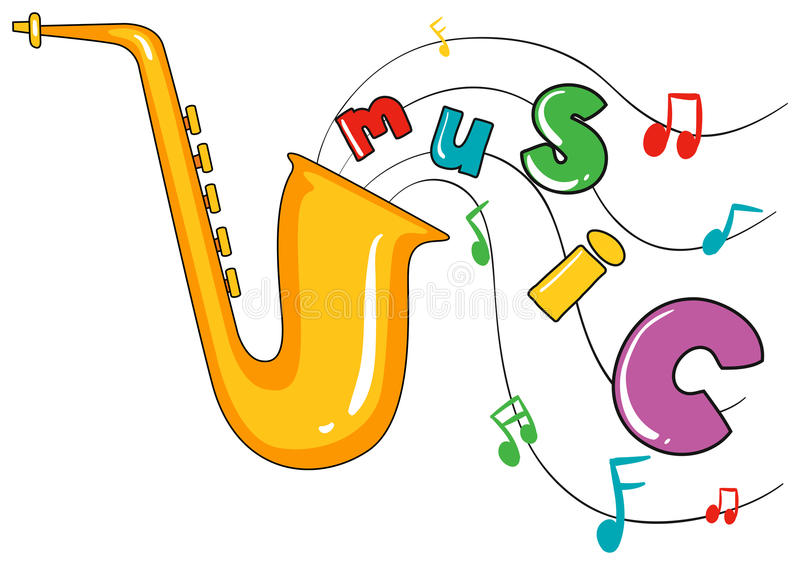 Word Music Stock Illustrations.