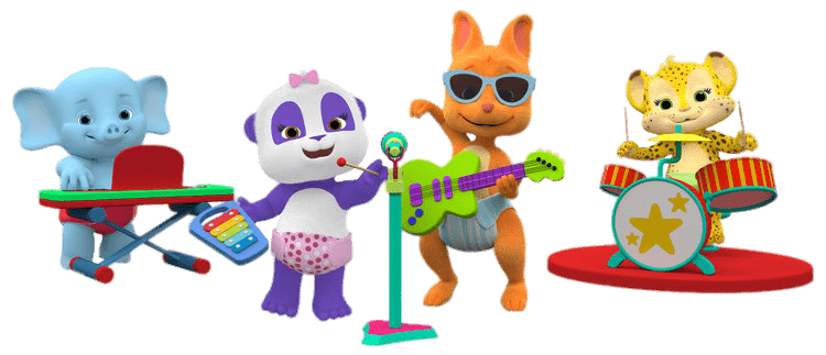 Word Party Characters Making Music transparent PNG.