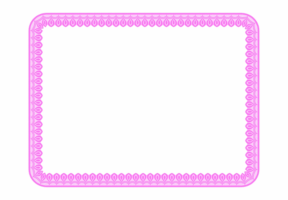 Basketball Border For Microsoft Word Baby Pink Border.