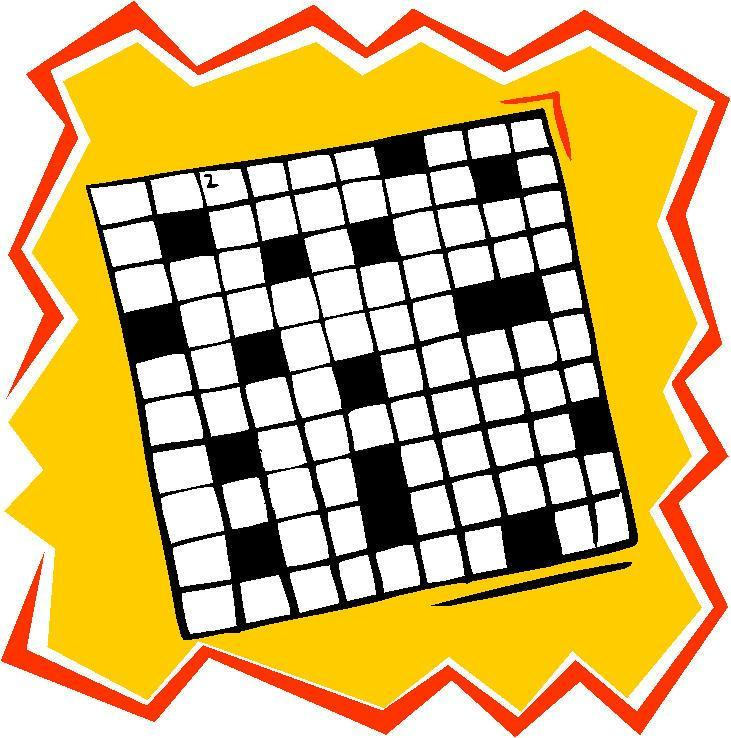 Free clip art crossword.