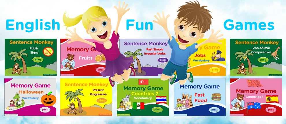 Games for Learning English, Vocabulary, Grammar Games.