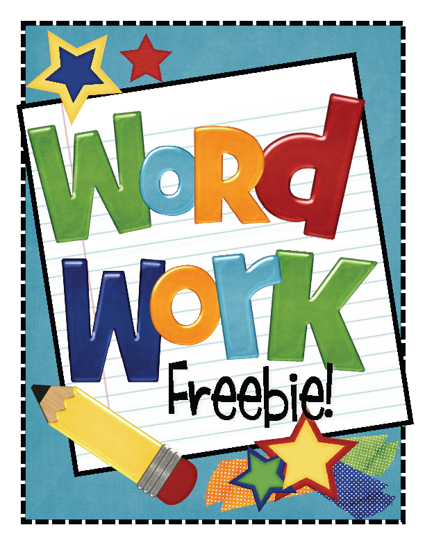 Word study clipart example.