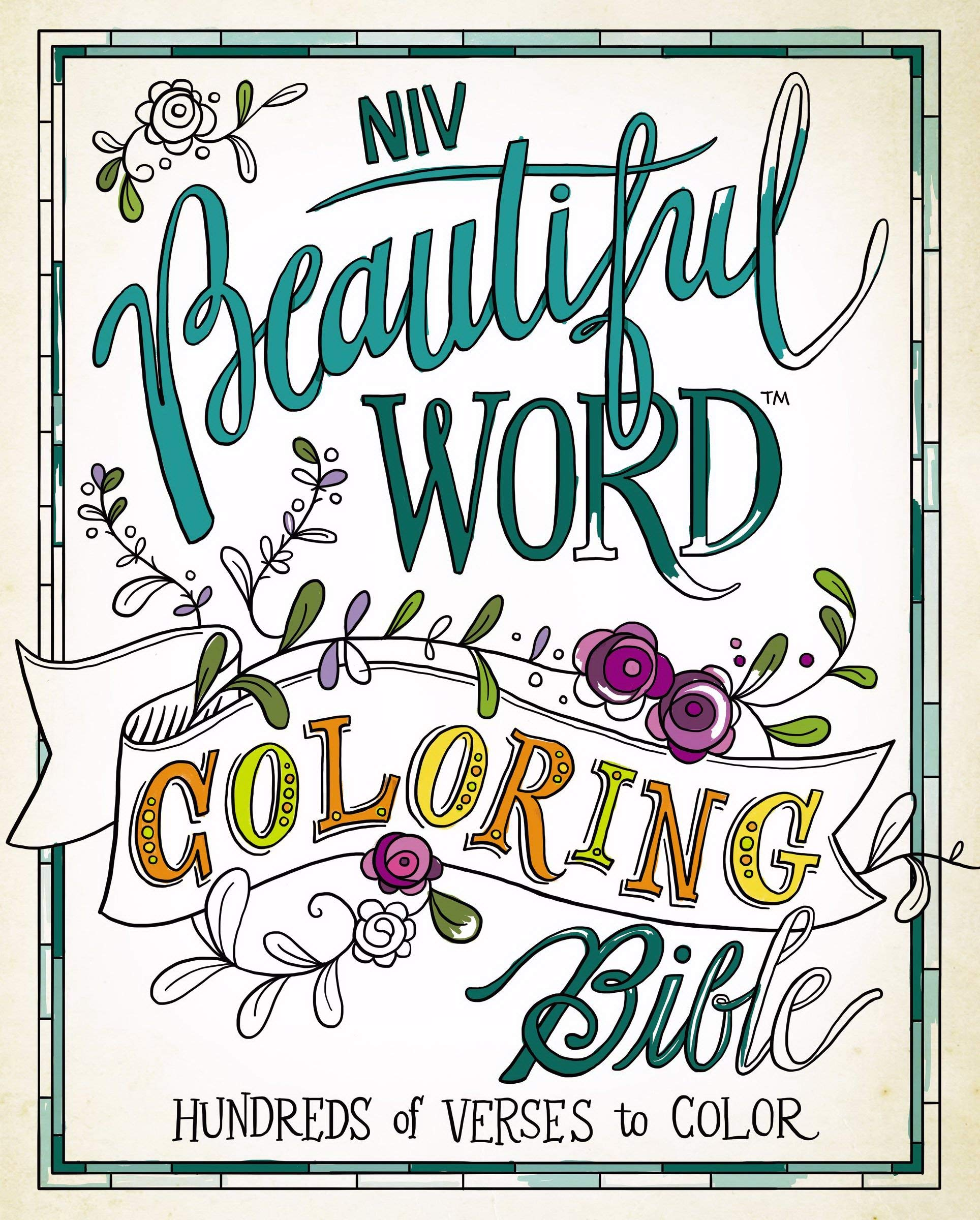 NIV, Beautiful Word Coloring Bible, Hardcover: Hundreds of.