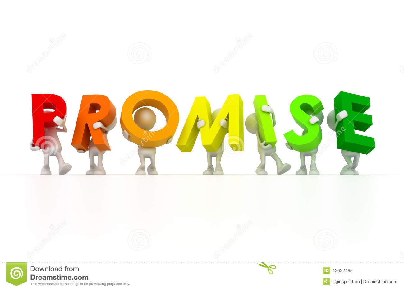 Team holding Promise word.