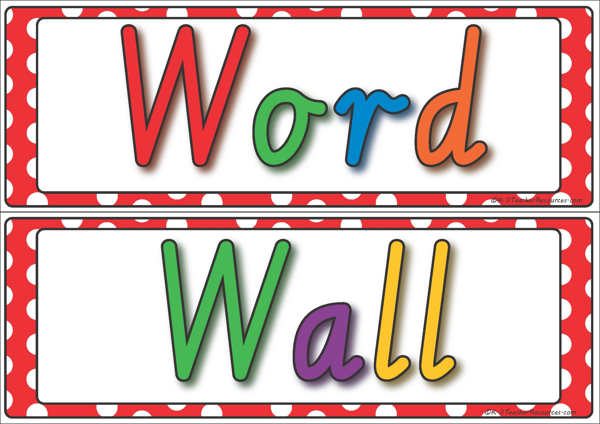 Word wall clipart 6 » Clipart Station.