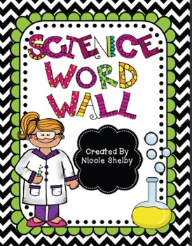 Science Word Wall Vocabulary Cards.