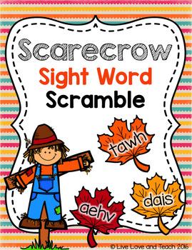 Scarecrow Sight Word Scramble.