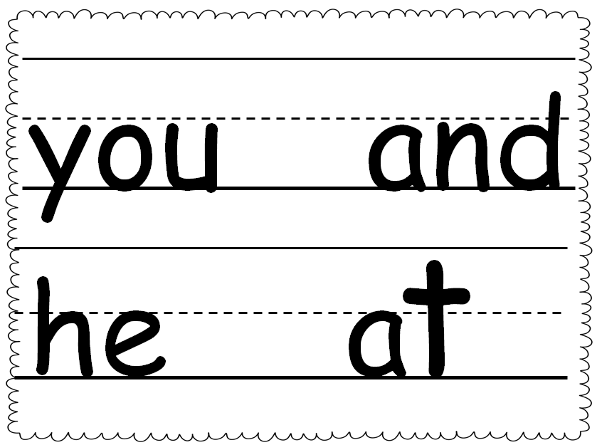 Word work clipart black and white.