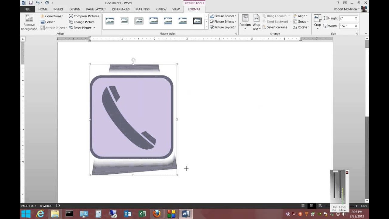 How to insert clip art in Microsoft Word 2013.