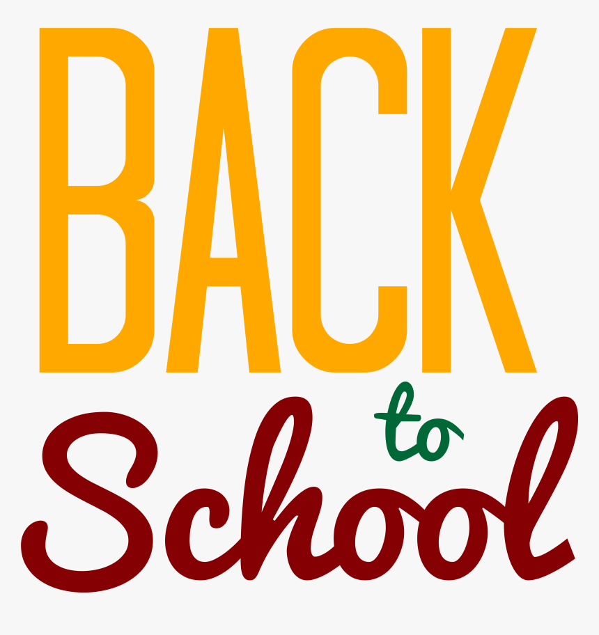 Yellow Back To School Png Clipart Image.