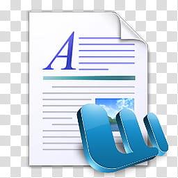 MS Word Document dock icons, WordPad Docs, Microsoft Word art.