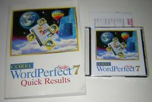 Details about Corel WordPerfect Suite 7 Windows CD.