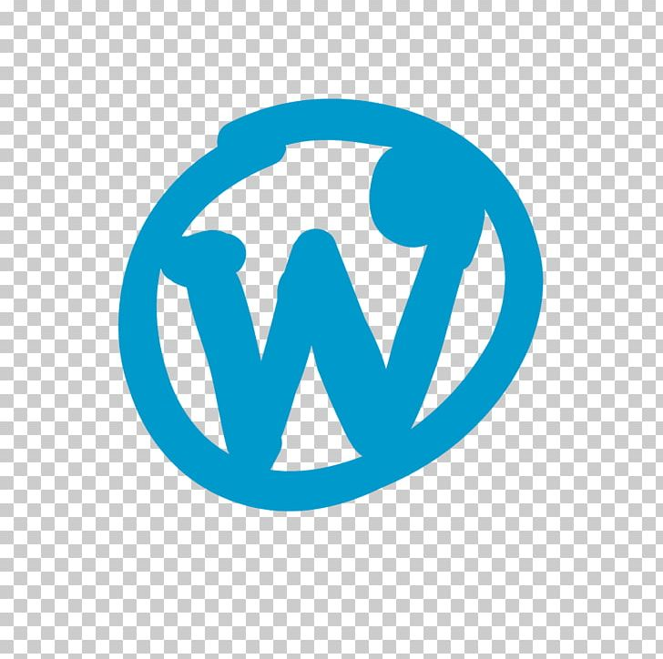 Wordpress Icon Logo. PNG, Clipart, Aqua, Area, Art, Blue.