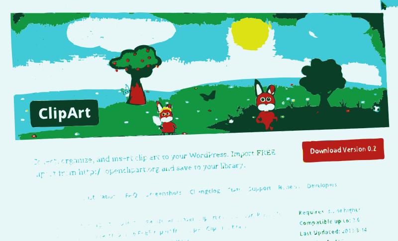Free Clipart: UPDATE: Clipart WordPress Plugin received an.