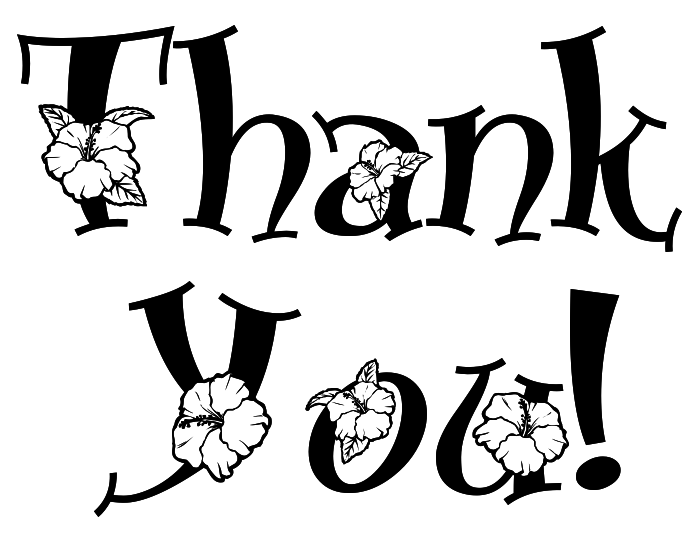 Thank You Clipart Black And White & Thank You Black And White Clip.