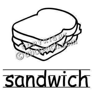 Sandwich Clip Art Black And White.
