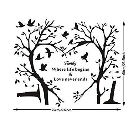 Amazon.com: xbwy Innovative Family Words Wall Sticker Heart.