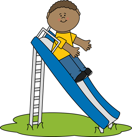 Child On Slide Clipart.