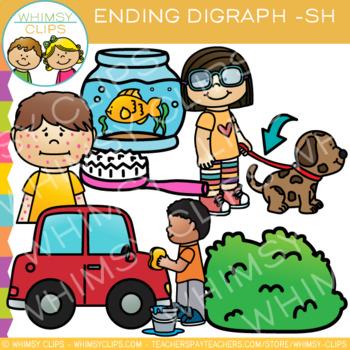Final Digraph Clip Art: Sh Words.