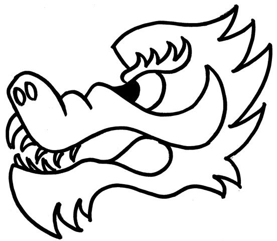 Dragon Head And Tail Clipart.