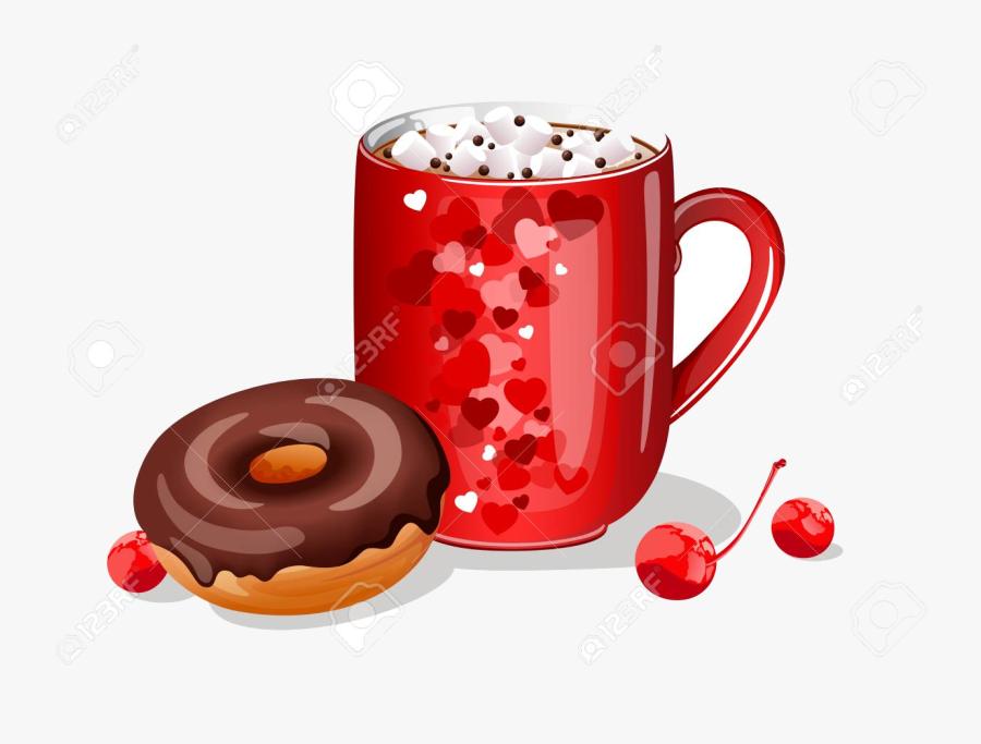 Hot Chocolate Clipart Donut Free Clip Art Stock Transparent.