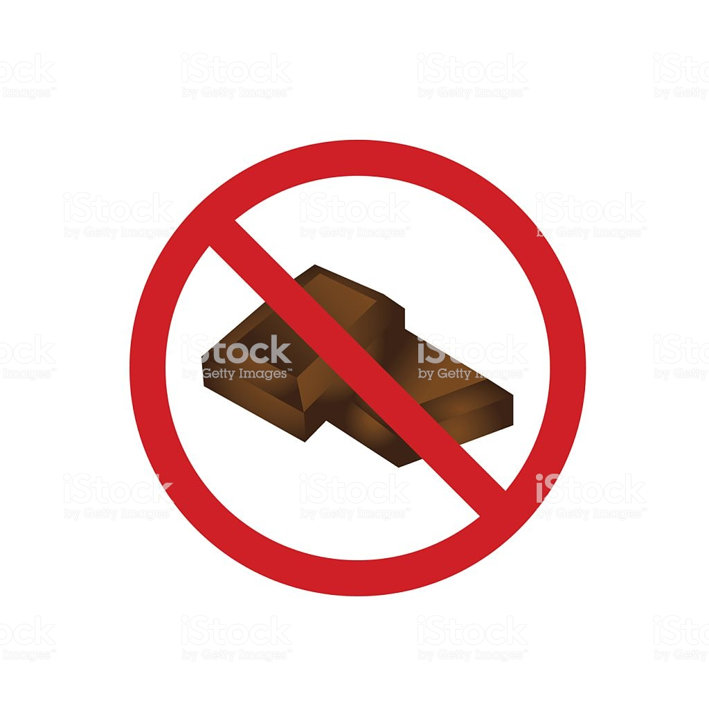 No Chocolate Clipart.
