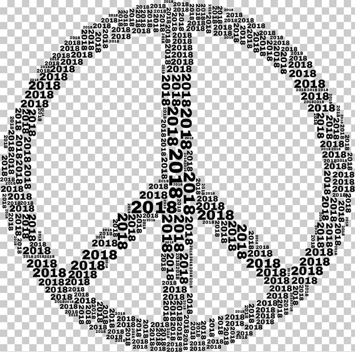 Peace symbols , 2018 art words PNG clipart.