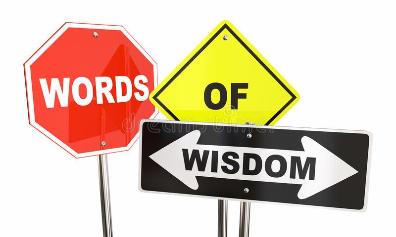 Wisdom Words Stock Illustrations.