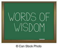 Words of wisdom Clipart and Stock Illustrations. 1,720 Words.