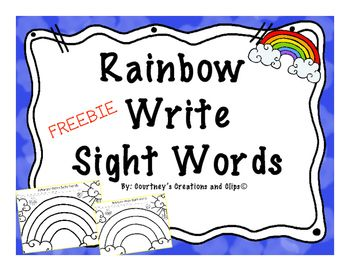 Rainbow Write Sight Words.
