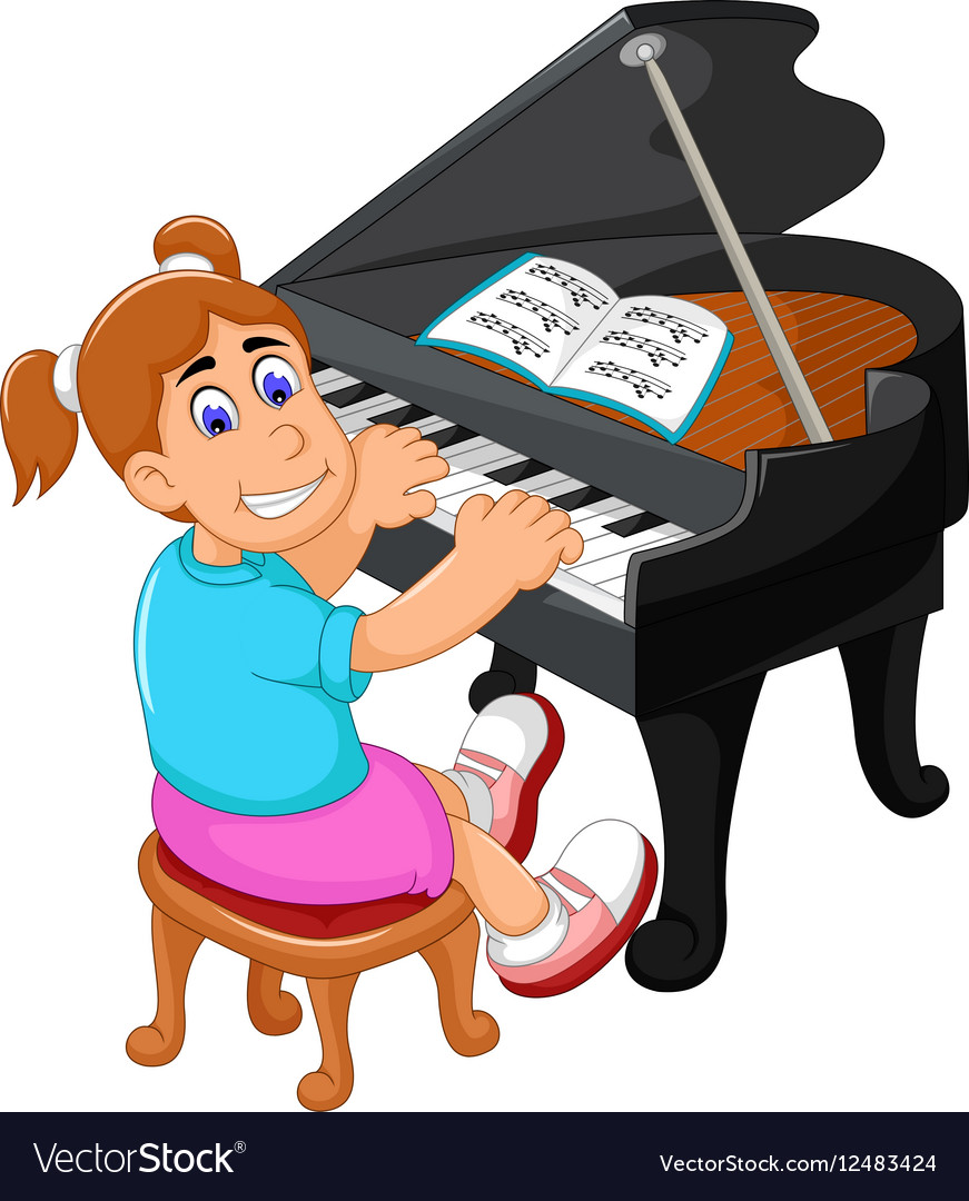 Piano Recital Clipart.