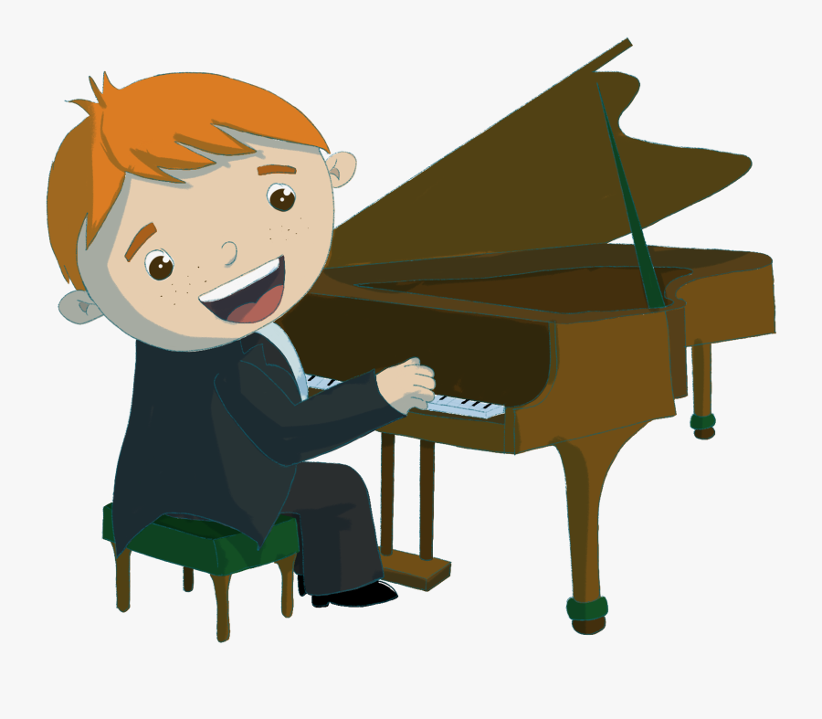 Playing Piano Cartoon Png , Free Transparent Clipart.
