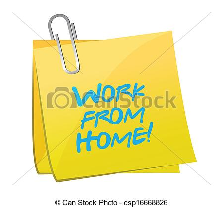 Work At Home Clipart.