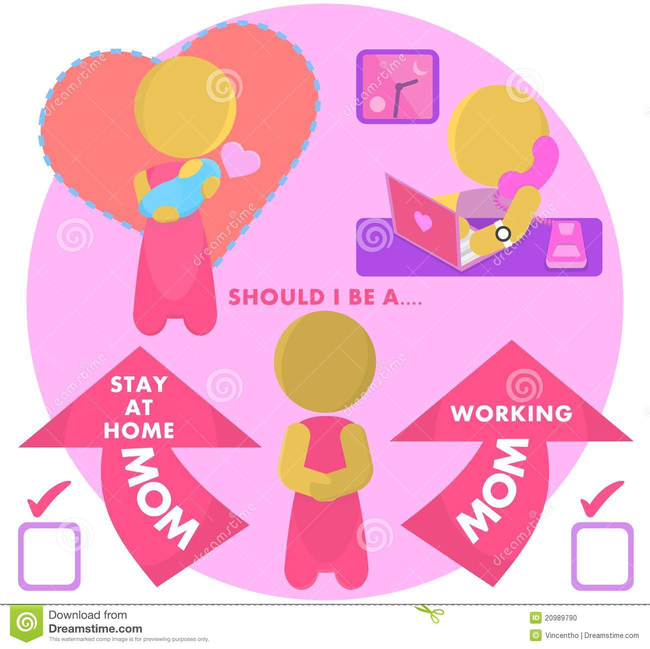 Work At Home Mom Clipart.