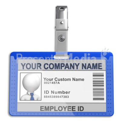 Single Id Badge.